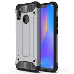 King Kong Armor Premium Shockproof Dual Layer Rugged Hard Cover for Huawei Nova 3i - Silver Grey