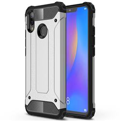 King Kong Armor Premium Shockproof Dual Layer Rugged Hard Cover for Huawei Nova 3i - Technology Silver