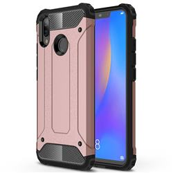 King Kong Armor Premium Shockproof Dual Layer Rugged Hard Cover for Huawei Nova 3i - Rose Gold