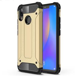 King Kong Armor Premium Shockproof Dual Layer Rugged Hard Cover for Huawei Nova 3i - Champagne Gold