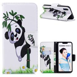Bamboo Panda Leather Wallet Case for Huawei Nova 3i