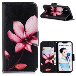 Lotus Flower Leather Wallet Case for Huawei P Smart+ (Nova 3i)