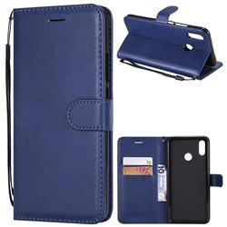 Retro Greek Classic Smooth PU Leather Wallet Phone Case for Huawei P Smart+ (Nova 3i) - Blue