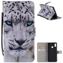 White Leopard PU Leather Wallet Case for Huawei Nova 3i