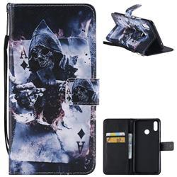 Skull Magician PU Leather Wallet Case for Huawei P Smart+ (Nova 3i)