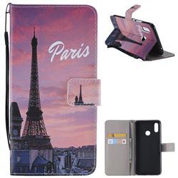 Paris Eiffel Tower PU Leather Wallet Case for Huawei P Smart+ (Nova 3i)