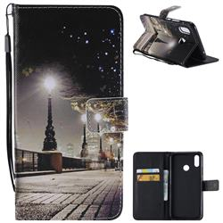 City Night View PU Leather Wallet Case for Huawei P Smart+ (Nova 3i)