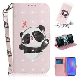 Heart Cat 3D Painted Leather Wallet Phone Case for Huawei P Smart+ (Nova 3i)