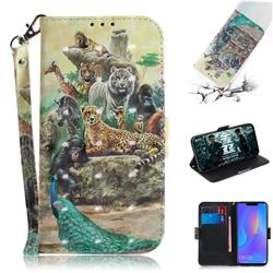 Beast Zoo 3D Painted Leather Wallet Phone Case for Huawei Nova 3i