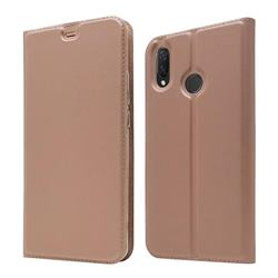 Ultra Slim Card Magnetic Automatic Suction Leather Wallet Case for Huawei Nova 3i - Rose Gold