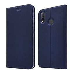 Ultra Slim Card Magnetic Automatic Suction Leather Wallet Case for Huawei Nova 3i - Royal Blue