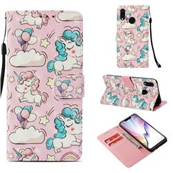 Angel Pony 3D Painted Leather Wallet Case for Huawei P Smart+ (Nova 3i)