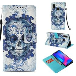 Cloud Kito 3D Painted Leather Wallet Case for Huawei P Smart+ (Nova 3i)