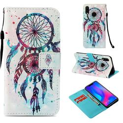 ColorDrops Wind Chimes 3D Painted Leather Wallet Case for Huawei Nova 3i