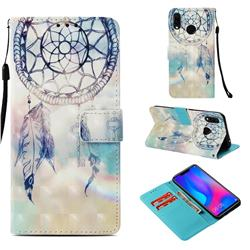 Fantasy Campanula 3D Painted Leather Wallet Case for Huawei Nova 3i