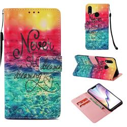 Colorful Dream Catcher 3D Painted Leather Wallet Case for Huawei Nova 3i