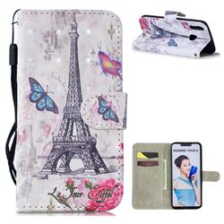 Paris Tower 3D Painted Leather Wallet Phone Case for Huawei P Smart+ (Nova 3i)