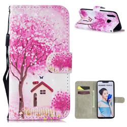 Tree House 3D Painted Leather Wallet Phone Case for Huawei Nova 3i