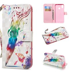 Music Pen 3D Painted Leather Wallet Phone Case for Huawei Nova 3i
