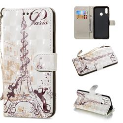 Tower Couple 3D Painted Leather Wallet Phone Case for Huawei Nova 3i
