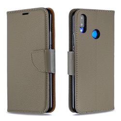 Classic Luxury Litchi Leather Phone Wallet Case for Huawei Nova 3i - Gray