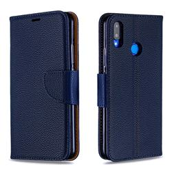 Classic Luxury Litchi Leather Phone Wallet Case for Huawei Nova 3i - Blue