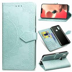 Embossing Imprint Mandala Flower Leather Wallet Case for Huawei Nova 3i - Green