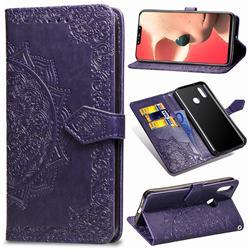 Embossing Imprint Mandala Flower Leather Wallet Case for Huawei Nova 3i - Purple