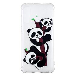 Three Pandas Anti-fall Clear Varnish Soft TPU Back Cover for Huawei nova 4
