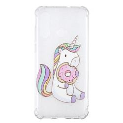 Donut Unicorn Anti-fall Clear Varnish Soft TPU Back Cover for Huawei nova 4