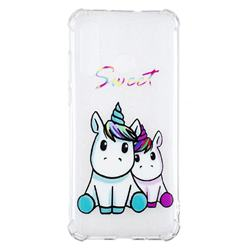 Sweet Unicorn Anti-fall Clear Varnish Soft TPU Back Cover for Huawei nova 4