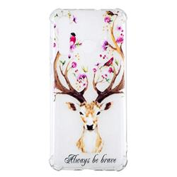 Always be Brave Anti-fall Clear Varnish Soft TPU Back Cover for Huawei nova 4