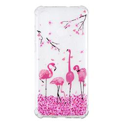 Cherry Flamingo Anti-fall Clear Varnish Soft TPU Back Cover for Huawei nova 4