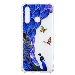 Peacock Butterfly Anti-fall Clear Varnish Soft TPU Back Cover for Huawei nova 4