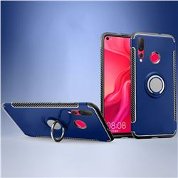 Armor Anti Drop Carbon PC + Silicon Invisible Ring Holder Phone Case for Huawei nova 4 - Sapphire