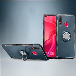 Armor Anti Drop Carbon PC + Silicon Invisible Ring Holder Phone Case for Huawei nova 4 - Navy