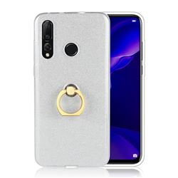 Luxury Soft TPU Glitter Back Ring Cover with 360 Rotate Finger Holder Buckle for Huawei nova 4 - White