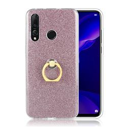 Luxury Soft TPU Glitter Back Ring Cover with 360 Rotate Finger Holder Buckle for Huawei nova 4 - Pink