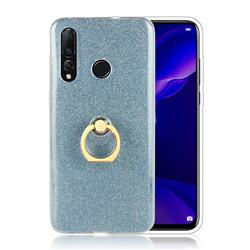 Luxury Soft TPU Glitter Back Ring Cover with 360 Rotate Finger Holder Buckle for Huawei nova 4 - Blue