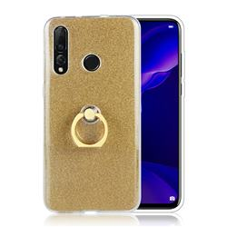 Luxury Soft TPU Glitter Back Ring Cover with 360 Rotate Finger Holder Buckle for Huawei nova 4 - Golden