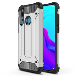 King Kong Armor Premium Shockproof Dual Layer Rugged Hard Cover for Huawei nova 4 - Technology Silver