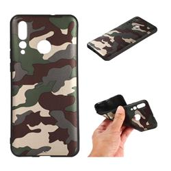 Camouflage Soft TPU Back Cover for Huawei nova 4 - Gold Green