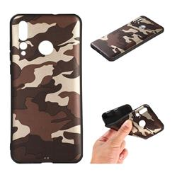 Camouflage Soft TPU Back Cover for Huawei nova 4 - Gold Coffee