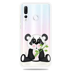 Bamboo Panda Clear Varnish Soft Phone Back Cover for Huawei nova 4