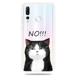Cat Say No Clear Varnish Soft Phone Back Cover for Huawei nova 4