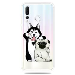 Selfie Dog Clear Varnish Soft Phone Back Cover for Huawei nova 4