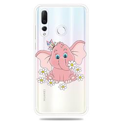 Tiny Pink Elephant Clear Varnish Soft Phone Back Cover for Huawei nova 4