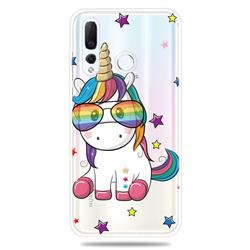 Glasses Unicorn Clear Varnish Soft Phone Back Cover for Huawei nova 4