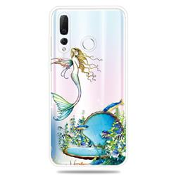 Mermaid Clear Varnish Soft Phone Back Cover for Huawei nova 4