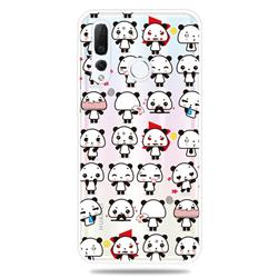 Mini Panda Clear Varnish Soft Phone Back Cover for Huawei nova 4